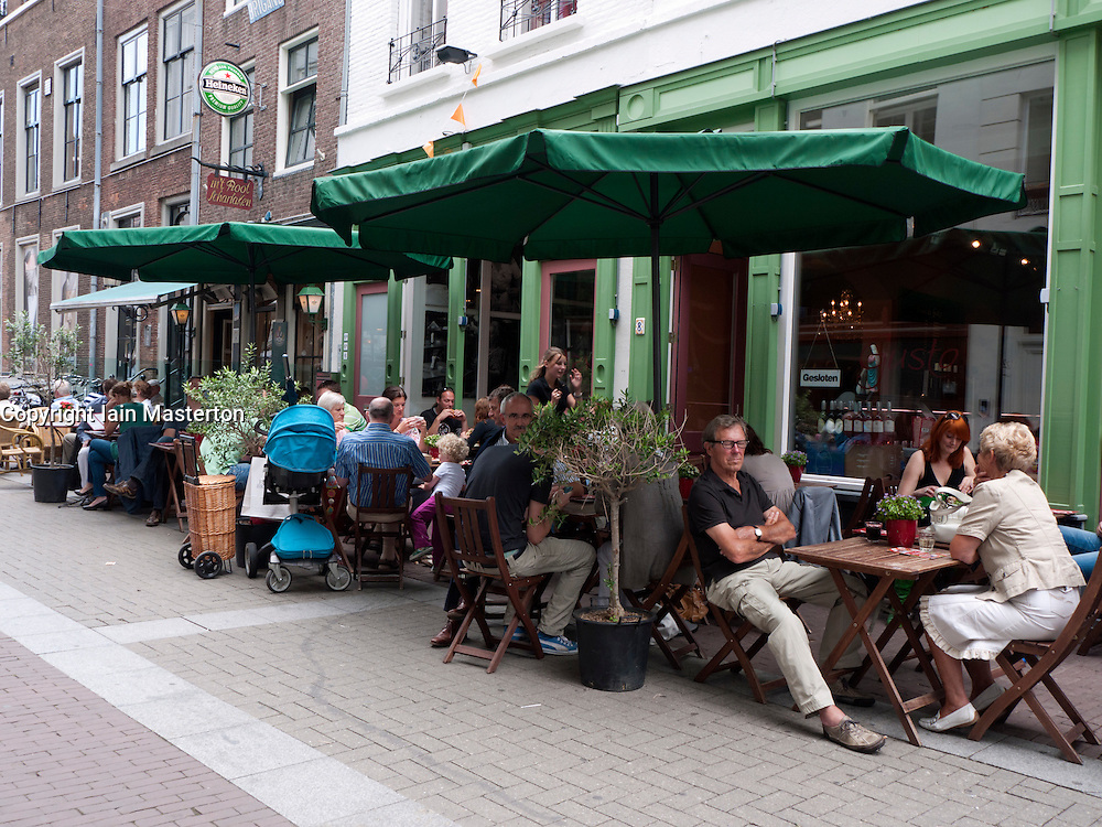 Busy cafe in Den Bosch  or s-Hertogenbosch in The Netherlands