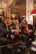 ED VICTOR; LORD HUTCHINSON; MICHAEL ANN, Juliet Nicolson - book launch party for  her latest novel Abdication, about British society after the death of George V.  The Gallery at The Westbury, 37 Conduit Street, Mayfair, London, 12 June 2012