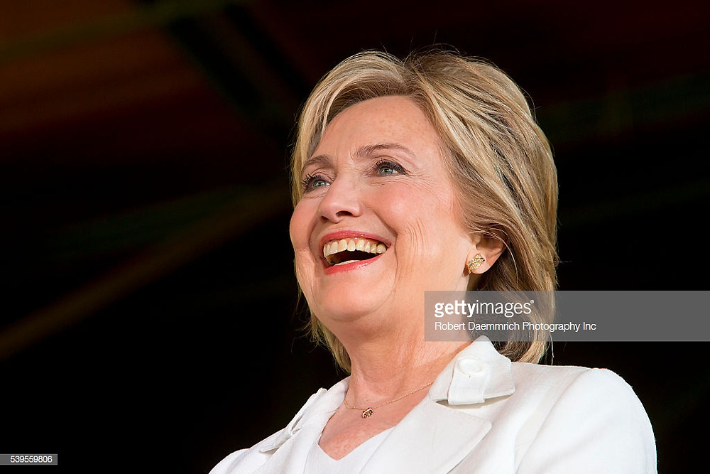 October 15th, 2015 San Antonio, Texas: US Democratic presidential hopeful Hillary Clinton greets supporters during a campaign stop in Texas hosted by Latinos for Hillary. . (Photo by Robert Daemmrich Photography Inc/Corbis via Getty Images)