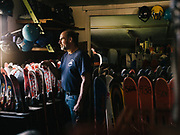 """MENTONE, AL – FEBRUARY 24, 2017: Gary Jones stands in the lodge at Cloudmont Ski Resort. Jones, 58, was born in nearby Fort Payne and helped his family open Cloudmont in 1971 while still a teenager. """"We made the first snow on Christmas night,"""" Jones said. """"It was pretty cool."""" Today, using 9 snow machines and 4 air water guns, Jones is able to cover parts of his property up to 15 feet of snow. Yet due to increasingly warm winters, ski resorts like Cloudmont are closing early across the region, leaving business owners grasping at other revenue streams. """"This year we had five days of skiing,"""" Jones said. """"So yeah, the business tough. Every time we make snow it's $1,500 per night in electricity. It gets expensive."""" Jones blames the warming weather for dwindling seasons and revenue. """"This year it hit zero only one night, and then the next night it was up to 70. It just doesn't stay cold like it used to. It's crazy. But we just have to put up with it."""" Jones also runs a small golf course on his property and is preparing to invest in zip lines and summer AstroTurf to offset lost revenue. """"We were hoping this year would be a good year for skiing so we could invest with our own money. Looks like we're going to have to borrow."""""""