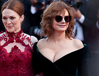 Susan Sarandon and Julianne Moore at the opening ceremony and Ismael's Ghosts (Les Fantômes D'ismaël) gala screening,  at the 70th Cannes Film Festival Wednesday May 17th 2017, Cannes, France. Photo credit: Doreen Kennedy