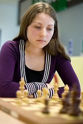 Maja Nadvesnik in action during the Slovenian National Chess Championships in Ljubljana on August 9, 2010.  (Photo by Vid Ponikvar / Sportida)