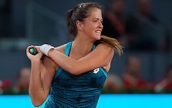 May 6, 2019 - Madrid, MADRID, SPAIN - Viktoria Kuzmova of Slovakia in action during her second-round match at the 2019 Mutua Madrid Open WTA Premier Mandatory tennis tournament (Credit Image: © AFP7 via ZUMA Wire)