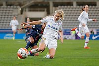 Ada Hegerberg (Olympique Lyonnais), Georges Laura (PSG women) during the Women's French Championship D1 football match between Paris Saint Germain and Olympique Lyonnais on February 5, 2016 at Charlety stadium in Paris, France - Photo Stephane Allaman / DPPI