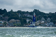 SailGP Team France helmed by Billy Besson practising on the Solent. Event 4 Season 1 SailGP event in Cowes, Isle of Wight, England, United Kingdom. 6 August 2019: Photo Chris Cameron for SailGP. Handout image supplied by SailGP