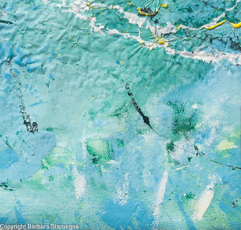 abstract shallow water view from above with light green and blue shades