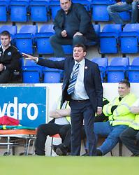St Johnstone manager Tommy Wright.<br /> St Johnstone 1 v 2 Kilmarock, SPL game played at McDrarmid Park.