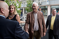 Bill Murray and Emil Gaspari at exclusive after-work get-together in the company of Slovenia Vodka on June 5, 2017 in Restaurant and Bar Atelje, Ljubljana, Slovenia. Photo by Matic Klansek Velej / Sportida