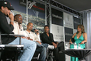 l to r: Michael Ely, Will Packer, Quincy Jones III, Nate Parker and Stephanie Frederic at the Lincoln Presents ' Off the Red Carpet ' at The 2008 American Black Film Festival at The Sofitel Hotel on August 9, 2008..' Off the Red Carpet ' celebrates the film careers of Hollywood insiders and soon to be released films by Black Filmmakers.