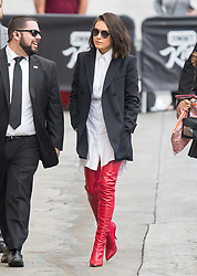 Mila Kunis is seen at 'Jimmy Kimmel Live' in Los Angeles, California. 30 Oct 2017 Pictured: Mila Kunis. Photo credit: RB/Bauergriffin.com / MEGA TheMegaAgency.com +1 888 505 6342