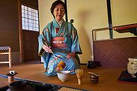 Japon, île de Honshu, région de Kansaï, Kyoto, cérémonie du thé, thé matcha // Japan, Honshu island, Kansai region, Kyoto, tea ceremony, tea matcha
