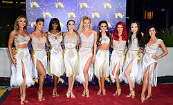The female professionals arriving at the red carpet launch of Strictly Come Dancing 2019, held at BBC TV Centre in London, UK.
