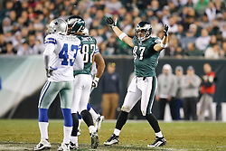 Philadelphia Eagles tight end Brent Celek #87 reacts after a play during the NFL game between the Dallas Cowboys and the Philadelphia Eagles on November 8th 2009. The Cowboys won 20-16 at Lincoln Financial Field in Philadelphia, Pennsylvania. (Photo By Brian Garfinkel)