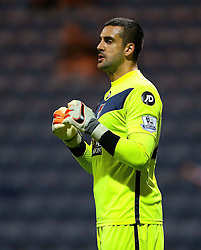 Adam Federici of Bournemouth - Mandatory byline: Matt McNulty/JMP - 07966386802 - 22/09/2015 - FOOTBALL - Deepdale Stadium -Preston,England - Preston North End v Bournemouth - Capital One Cup - Third Round