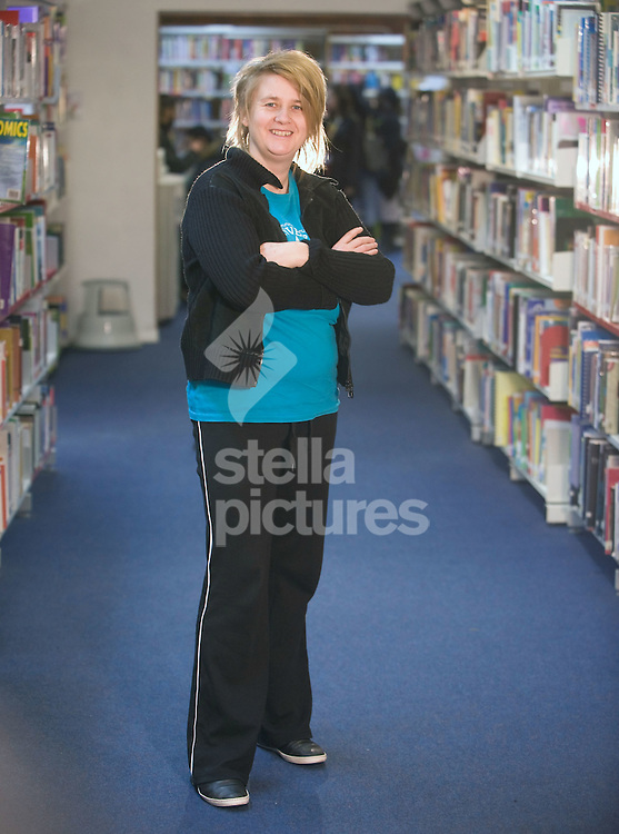 Picture by Daniel Hambury..20/1/10..Author of 'The Carbon Diaries' Saci Lloyd pictured at Newham Sixth Form College where she is a media studies teacher.
