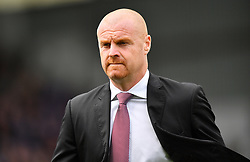 """Burnley manager Sean Dyche during the Premier League match at Turf Moor, Burnley. PRESS ASSOCIATION Photo. Picture date: Saturday August 19, 2017. See PA story SOCCER Burnley. Photo credit should read: Anthony Devlin/PA Wire. RESTRICTIONS: EDITORIAL USE ONLY No use with unauthorised audio, video, data, fixture lists, club/league logos or """"live"""" services. Online in-match use limited to 75 images, no video emulation. No use in betting, games or single club/league/player publications."""