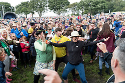 Colonel Mustard & The Dijon 5 performing at Party At The Palace Music Festival in Linlithgow Palace grounds on Sat 13th August 2016.<br /> <br /> <br /> Alan Rennie/ EEm