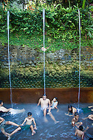 Banjar Hot Springs are located west of Lovina, a Balinese  hot springs with stone carved mouths gushing water in a lush garden setting. The waters are naturally heated to a warm temperature and have a high sulphur content. The experience is both therapeutic and cleansing.