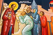 Fresco in the abbey chapel, Krka Monastery, Krka National Park, Dalmatia, Croatia