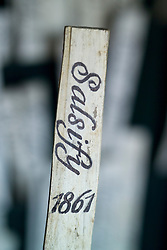 Label in the potting shed at Audley End