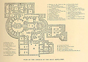 Plan of the Church of the Holy Sepulchre, Jerusalem From the book 'Those holy fields : Palestine, illustrated by pen and pencil' by Manning, Samuel, 1822-1881; Religious Tract Society (Great Britain) Published in 1874