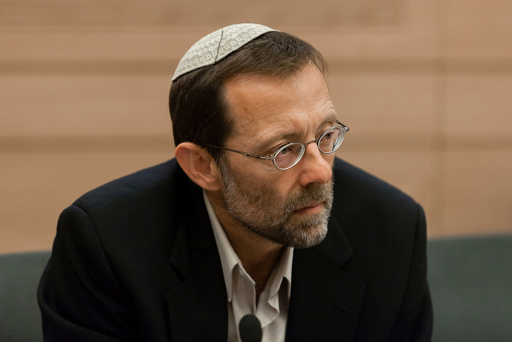 Israeli lawmaker Moshe Feiglin at the Knesset, Israel's parliament in Jerusalem, on June 25, 2013.