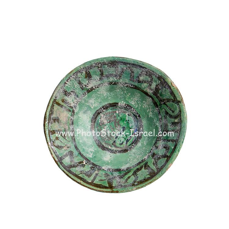 Islamic Glazed Terracotta bowl 12-13th century CE