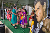 Pleasanton, California | 2015<br /> Kids participate in a Ram Lila show—a children's pageant telling stories from the Ramayana—as part of the Diwali celebrations at the Alameda County Fairground.