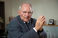 23 FEB 2016, BERLIN/GERMANY:<br /> Wolfgang Schaeuble, CDU, Bundesfinanzminister, waehrend einem Interview, in seinem Buero, Bundesministerium der Finanzen<br /> IMAGE: 20160223-01-023<br /> KEYWORDS: Wolfgang Schäuble