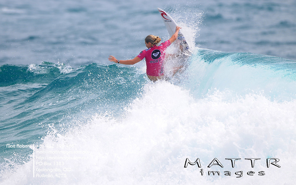 Gold Coast, Australia - March 6: Steph Gilmore in the final of the Roxy Pro Gold Coast 2010 at Snapper Rocks on the Gold Coast, March 6, 2010 Photo by Matt Roberts/MATTRimages.com.au | Image ID: MTR_0639.jpg