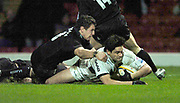 2004/05 Powergen Cup, Saracens vs Newcastle Falcons, 19.12.2004, Watford, ENGLAND:<br /> Saracens Taine Randell, touches down for his sceond try of the game.<br /> <br /> Watford, Hertfordshire, England, UK., 19th December 2004, [Mandatory Credit: Peter Spurrier],