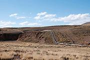 Bolivia June 2013. Cajamarca. Gas pipeline.