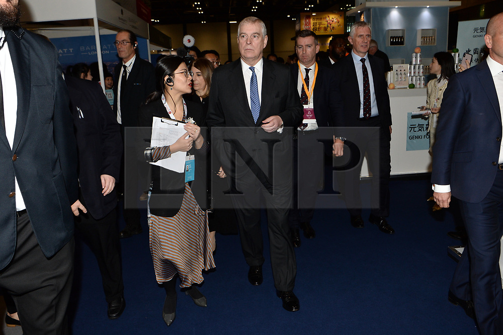 © Licensed to London News Pictures. 22/10/2019. London, UK. HRH The DUKE OF YORK attends the 15th World Chinese Entrepreneurs Convention held at the Excel venue. Photo credit: Ray Tang/LNP