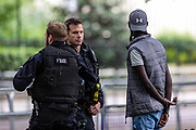 June 3, 2019 - London, UK- Two black teenagers were detained by British police in London after they were suspected of breaking the rule of law on the first day of US President Donald Trump's three days visit to the UK. (Credit Image: © Vedat Xhymshiti/ZUMA Wire)