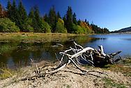 Massif du Lingas, le lac des Pises.
