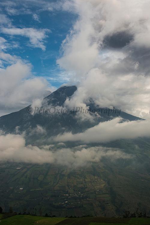 Tungurahua Volcano<br /> Cordillera Oriental near Baños<br /> Andes<br /> ECUADOR, South America<br /> Elevation: 16,480′ or 5,023 m
