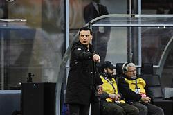 November 26, 2017 - Milan, Italy - vincenzo Montella head coach of AC Milan during Italian serie A match AC Milan vs Torino FC at San Siro Stadium  (Credit Image: © Gaetano Piazzolla/Pacific Press via ZUMA Wire)