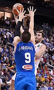 DESCRIZIONE : Berlino Berlin Eurobasket 2015 Group B Spain Italy<br /> GIOCATORE : Rudy Fernandez<br /> CATEGORIA : tiro penetrazione<br /> SQUADRA : Spain<br /> EVENTO : Eurobasket 2015 Group B<br /> GARA : Spain Italy<br /> DATA : 08/09/2015<br /> SPORT : Pallacanestro<br /> AUTORE : Agenzia CiamilloCastoria/R.Morgano<br /> Galleria : EuroBasket 2015<br /> Fotonotizia : Berlino Berlin Eurobasket 2015 Group B Spain ItalyGroup B Spain Italy