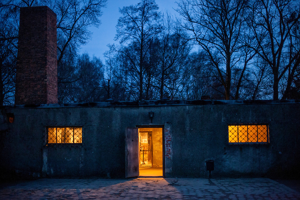The crematory and gas chamber at the Auschwitz Nazi concentration camp. It is estimated that between 1.1 and 1.5 million Jews, Poles, Roma and others were killed in Auschwitz during the Holocaust in between 1940-1945.