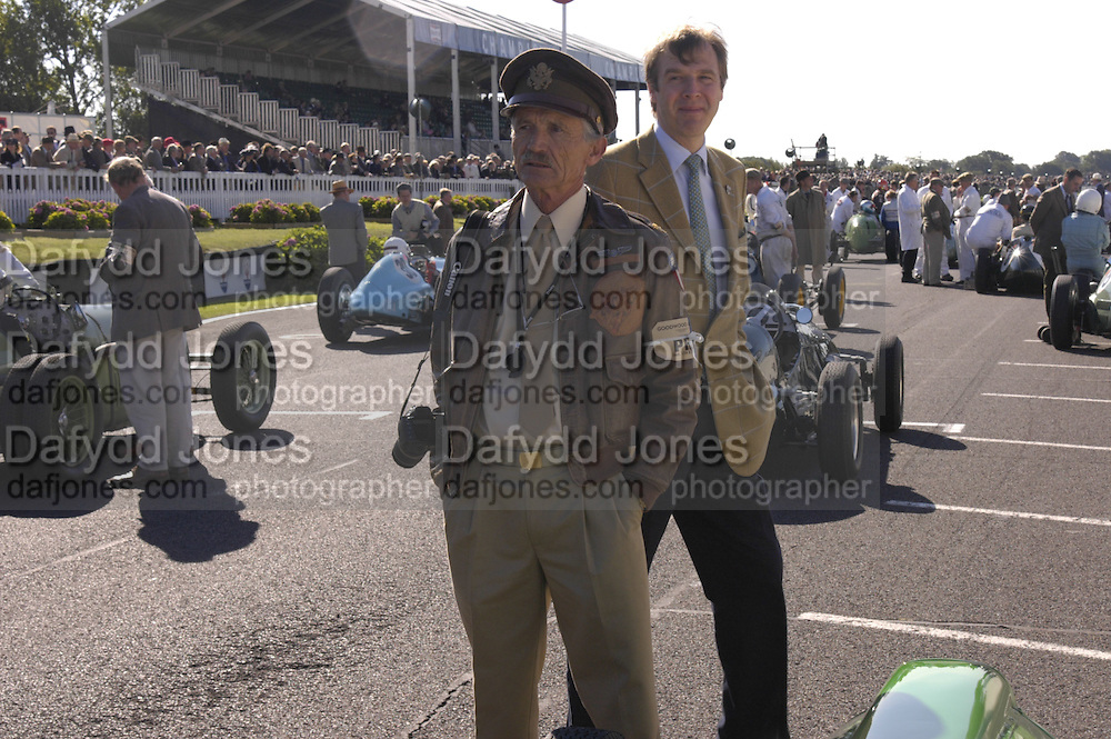 Robert Ames and Robert Brooks, Goodwood Revival Meeting. Saturday 17 September 2005.  ONE TIME USE ONLY - DO NOT ARCHIVE  © Copyright Photograph by Dafydd Jones 66 Stockwell Park Rd. London SW9 0DA Tel 020 7733 0108 www.dafjones.com