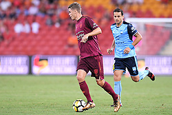 January 8, 2018 - Brisbane, QUEENSLAND, AUSTRALIA - Thomas Kristensen of the Roar (7) in action during the round fifteen Hyundai A-League match between the Brisbane Roar and Sydney FC at Suncorp Stadium on Monday, January 8, 2018 in Brisbane, Australia. (Credit Image: © Albert Perez via ZUMA Wire)