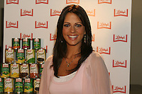 Sara Evans records a jingle for Libby Vegetables at the Sound Kitchen in Nashville, Tennessee on  Tuesday, July 8, 2008.  (Photo by Frederick Breedon IV)
