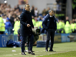 Sheffield Wednesday Manager Carlos Carvalhal and Brighton & Hove Albion Manager Chris Hughton - Mandatory by-line: Robbie Stephenson/JMP - 13/05/2016 - FOOTBALL - Hillsborough - Sheffield, England - Sheffield Wednesday v Brighton and Hove Albion - Sky Bet Championship Play-off Semi Final first leg