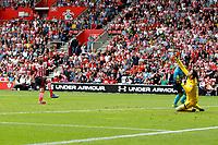Football - 2016 / 2017 Premier League - Southampton vs. Swansea City<br /> <br /> Southampton's Nathan Redmond blasts the ball over Lukasz Fabianski of Swansea City crossbar from close range at St Mary's Stadium Southampton <br /> <br /> Colorsport/Shaun Boggust