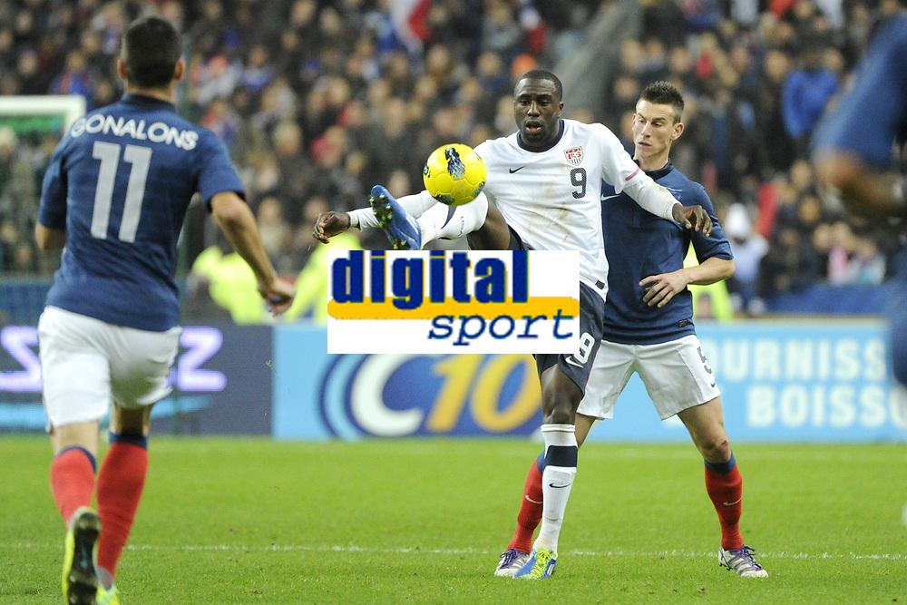 FOOTBALL - INTERNATIONAL FRIENDLY GAMES 2011/2012 - FRANCE v USA - 11/11/2011 - PHOTO JEAN MARIE HERVIO / DPPI - JOZY ALTIDORE (USA) / LAURENT KOSCIELNY (FRA)