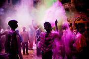 Holi festival, India, on wednesdayday, mar. 11, 2009.