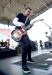 March 20, 2018 - Fontana, CA, USA - Musician - GAVIN ROSSDALE, lead singer and guitar for the band BUSH, performing live on stage before the start of the NASCAR Auto Club 400, Auto Club Speedway, Fontana, California, USA, March 19, 2018.  ..Credit Image  cr  Scott Mitchell/ZUMA Press (Credit Image: © Scott Mitchell via ZUMA Wire)
