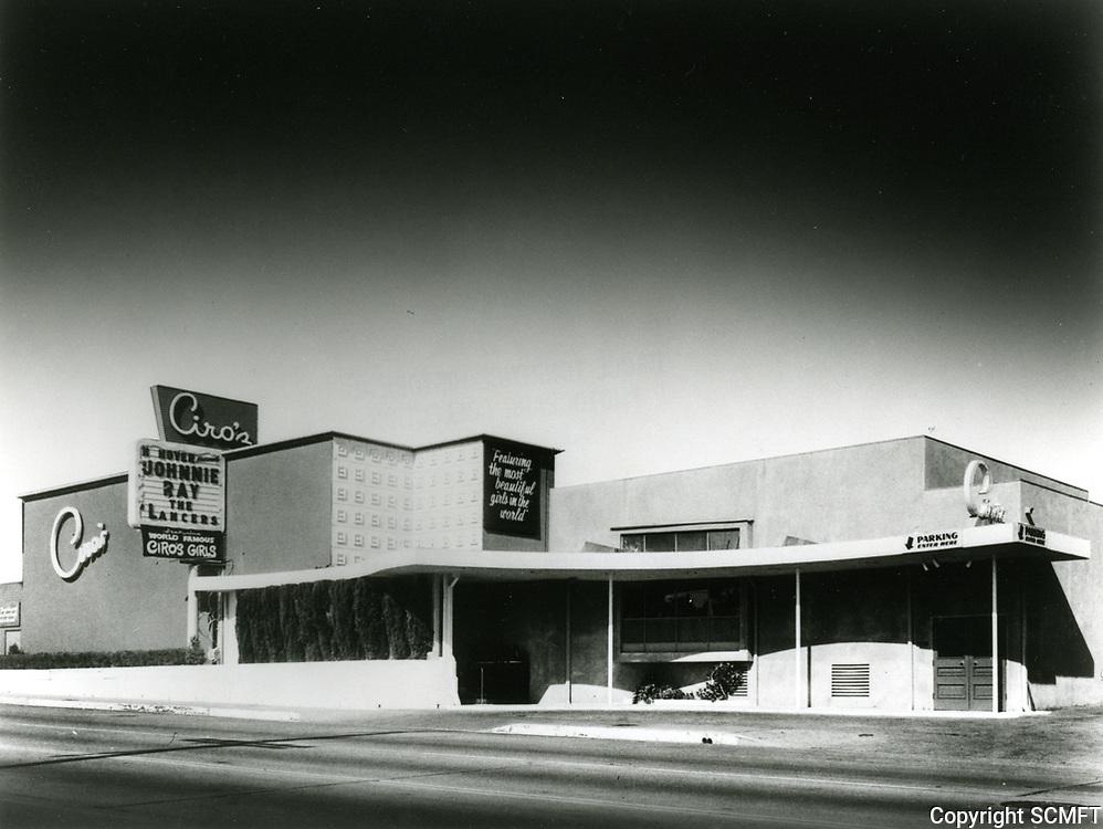 1955 Ciro's Nightclub on Sunset Blvd. in West Hollywood