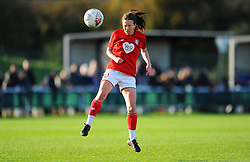 Olivia Chance of Bristol City Women heads the ball - Mandatory by-line: Nizaam Jones/JMP - 27/10/2019 - FOOTBALL - Stoke Gifford Stadium - Bristol, England - Bristol City Women v Tottenham Hotspur Women - Barclays FA Women's Super League