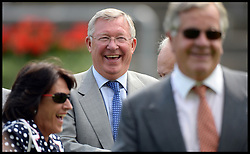 Sir Alex Ferguson watching the racing at Ascot Races, Ascot, United Kingdom<br /> Saturday, 27th July 2013<br /> Picture by Andrew Parsons / i-Images